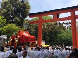松尾大社 神幸祭の「おいで」