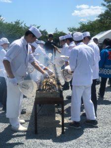 若鮎炭焼きの試食会「若鮎祭」